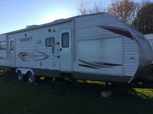 NEW PRICE.   32 Ft Travel Trailer with Bunkhouse, 2011