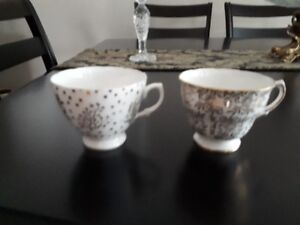 Misc china cups, saucers and plates