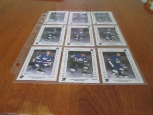 1992 QUEBEC PEE WEE PRO NORTH VANCOUVER COMPLETED SET 18 CARDS