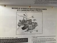 Ford Carburetor Adjustment manual 1981/1982