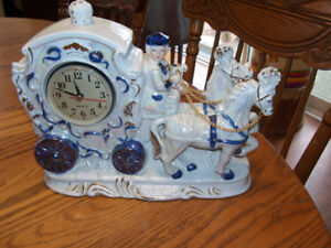 Victorian Style Clock 12 in by 10 in For sale