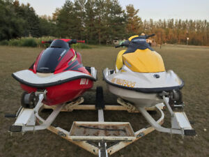 Water crafts- SeaDo and Honda, with trailer