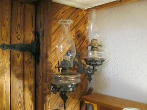 Wall Bracket with Oil Lamp