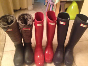 Women's Hunter Boots for sale 3 pairs