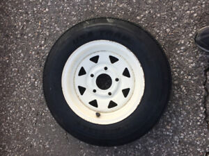 """Trailer Tire With Rim 5.30 - 12"""" For $35.00"""