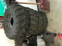 Polaris factory wheels and tires