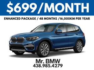 2018 LOADED BMW X3 - $699/Month Plus Tax - $0 Down - 48 Months