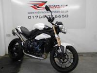 2011 TRIUMPH SPEED TRIPLE 1050 WHITE LOW MILEAGE WITH EXTRAS