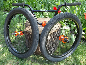 Cool looking -BMX Wheels and Bars -- On Hold Sale Pending –