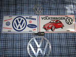 VW STUFF LIC PLATES STILL IN PLASTIC $20