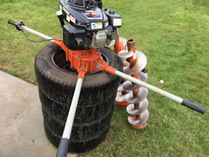 Two man auger/post hole digger/soil auger with 2 bits  extension