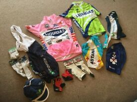 Childrens pro cycling kits - £10 the lot