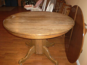 Solid Oak Table with Chairs