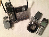 PANASONIC CORDLESS PHONE WITH TALKING CALLER ID (2 phones)