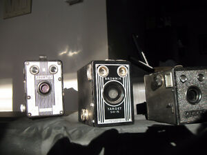 NICE EXCELLENT EXAMPLES OF ANTIQUE BOX CAMERAS ($35 Each)