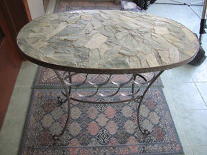 Accent table - Wrought Iron and tile