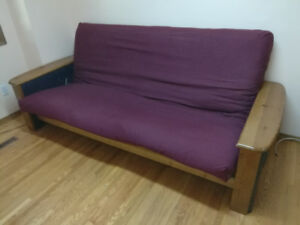 frame boston wood futon
