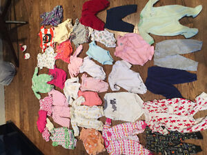 lots baby girl's clothes