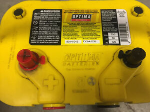 Optima yellow top deep cycle battery.