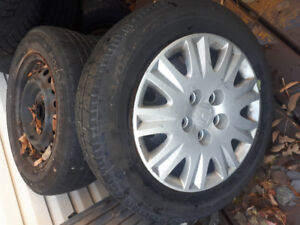4 tires rims hubcaps 150