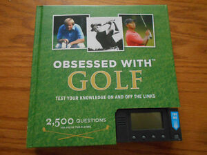 OBSESSED WITH GOLF & GOLFER'S POOL GAME - NEW