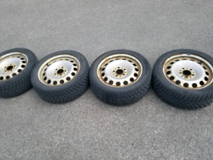 225/50 17 winter runflat and steel rims