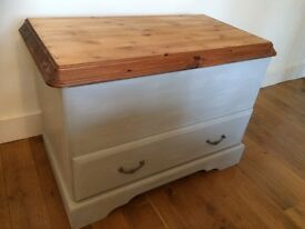 Pine Chest Trunk Toy Blanket Box Storage