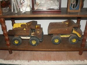 Old Rusty Tonka Trucks