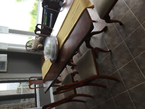 Solid Quebec Maple table and chairs