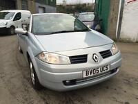 2005 Renault Megane convertible, starts and drives well,1 years MOT, electric roof, car loc
