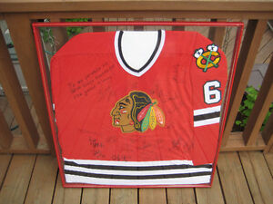 Hockey Jersey Chicago Blackhawks Autographed Framed