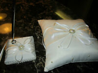 Ring Pillow and Reception Pen/Holder Wedding