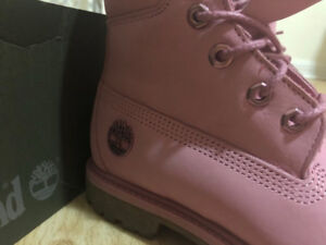 Women's Pink Timberland Boots Size 5