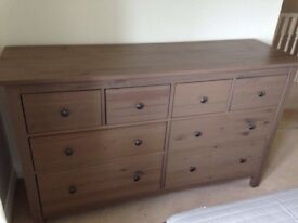 GREY/BROWN IKEA HEMNES CHEST OF 8 DRAWERS *** FREE DELIVERY ***