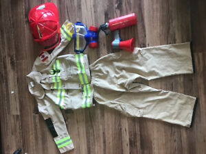 Children's Fireman costume and accessories
