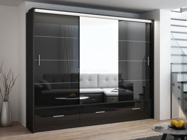 SAME DAY DELIVERY-BRAND NEW MARSYLIA 3 SLIDING DOOR WARDROBE WITH LED LIGHT  AND SAME DAY DELIVERY | in Winkfield, Berkshire | Gumtree