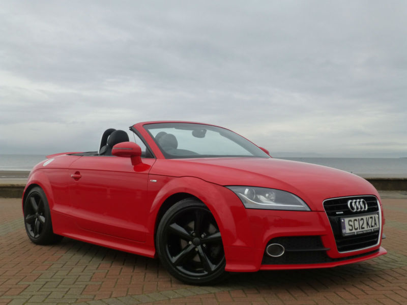 2012 12 audi tt 2 0 tdi roadster convertible s tronic auto s line diesel in ayr south. Black Bedroom Furniture Sets. Home Design Ideas