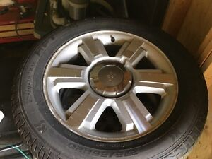 "F150 King Ranch 20"" rims and tires."