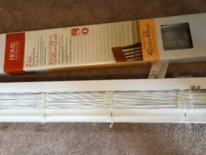 Less than 1/4 price BRAND NEW IN BOX WHITE  FAUX WOOD BLINDS
