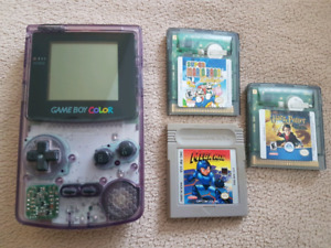 Atomic Purple Game boy Color and Games