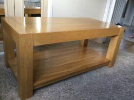 Oak furniture land oak coffee table