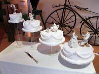 4 x acrylic wedding cake stands