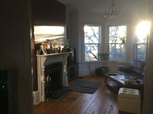 One bedroom in a large 2 bedroom flat for rent Feb 1st. Monthly.