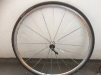 Mavic Aksium Race Road bike front wheel with tyre