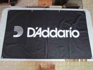 """D'ADDARIO Banner 59"""" x 35 1/4"""" *Excellent Condition* + FREE GIFT"""
