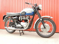 TRIUMPH BONNEVILLE T120 RARE 2 TONE BLUE EDITION 1960 650cc VERY PRETTY CLASSIC.