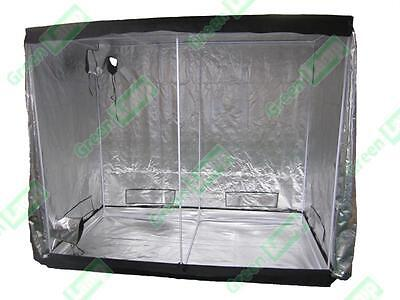 New 2.4m x 1.2m x 2m 600D Silver Mylar Grow Tent Box Hydroponics Dark Room