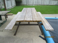 6' pressure treated / steel frame picnic table