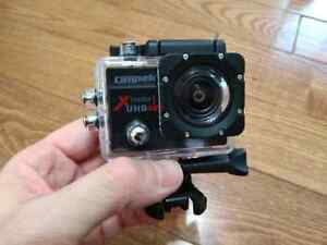 4K Action Camera with carrying case and 3 batteries.  Cambridge Kitchener Area image 1