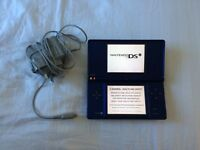 Blue Dsi console with charger - like new